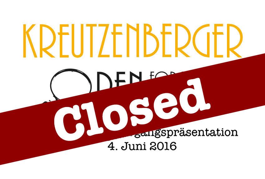 Kreutzenberger OPEN for friends – der Name ist Programm